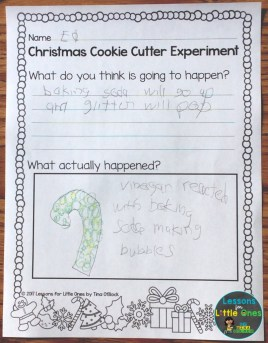 Christmas science recording page