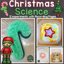 Christmas science experiments and recording pages