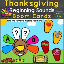 Thanksgiving Beginning Sounds Boom Cards