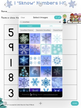 winter counting practice Pic Collage