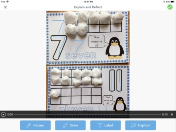 counting mat in Seesaw app