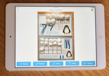 number mats in Seesaw app Draw tool