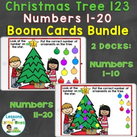Christmas Numbers 1-20 Boom Cards Bundle