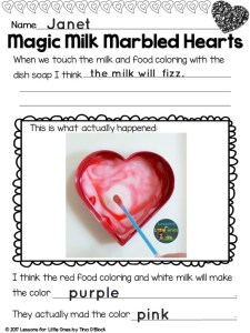 valentine science experiment magic milk Pic Collage app