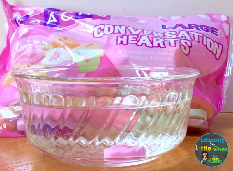 valentine science experiment sink or float