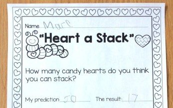 candy hearts stacking challenge page