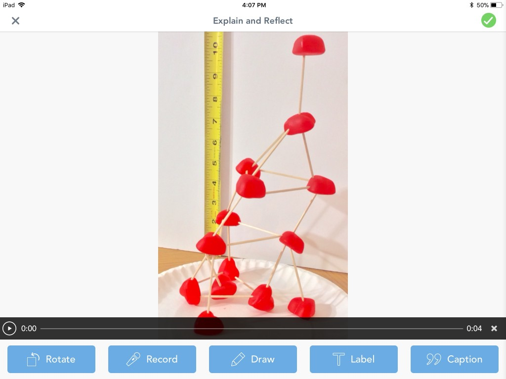 candy heart STEM challenge Seesaw app