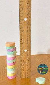 valentine candy hearts stacking challenge