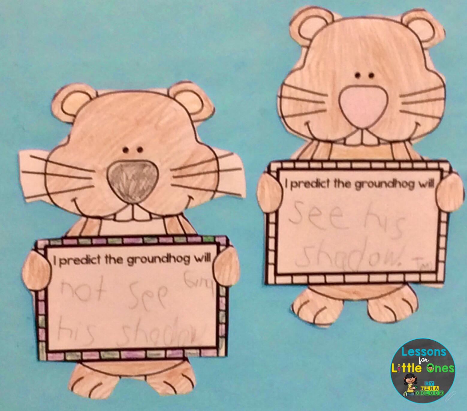 groundhog day prediction craftivity