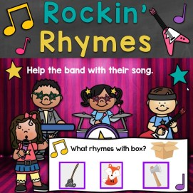Rockin' Rhymes Rhyming Words