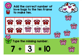 digital math center Valentine Making 10