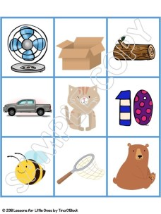 free rhyming words picture cards