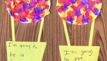 Dr. Seuss craft for Oh the Places You'll Go