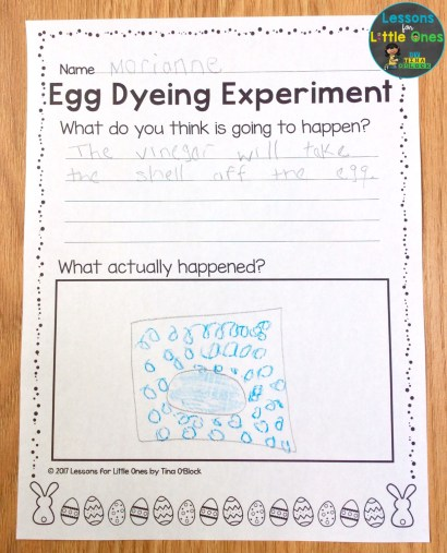 Easter egg dyeing science page
