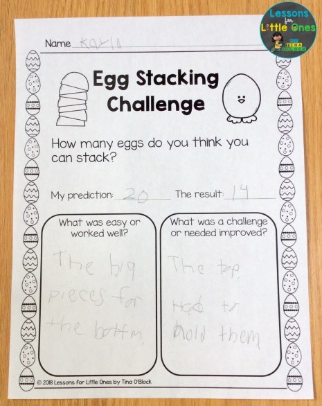 Easter Egg Stacking Challenge recording page