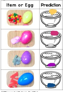 Easter egg sink or float science experiment page Pic Collage