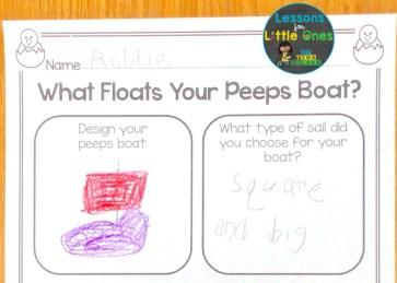 Easter Peeps Boat STEM page