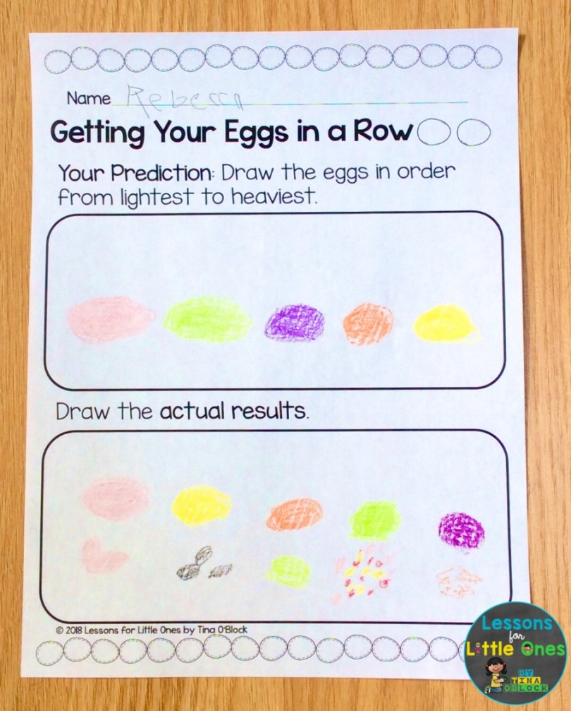 Easter eggs science page
