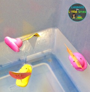 Easter Peeps chicks boats floating in water