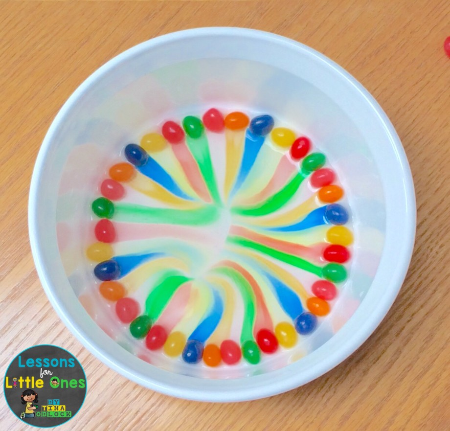 jelly bean rainbow Easter science experiment