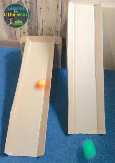 Easter egg roll STEM challenge with ramps