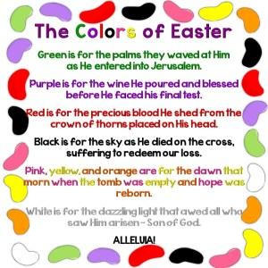 colors of Easter jelly bean poem