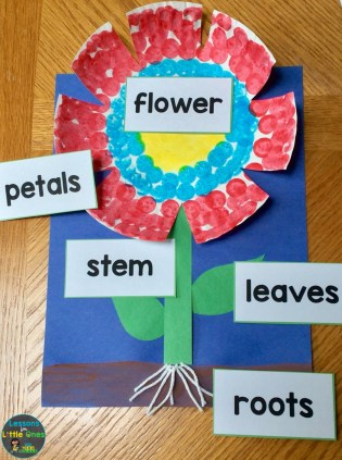 parts of a flower craftivity