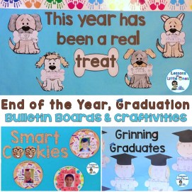 end of the year, graduation bulletin boards