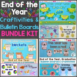 End of the Year Craftivities & Bulletin Boards Bundle Kit