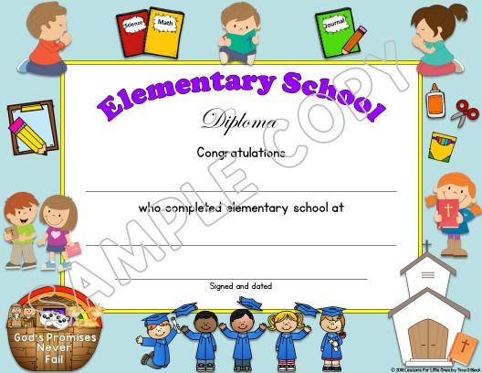 Elementary Diplomas Christian editable