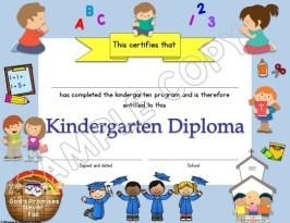 Kindergarten Diploma Christian