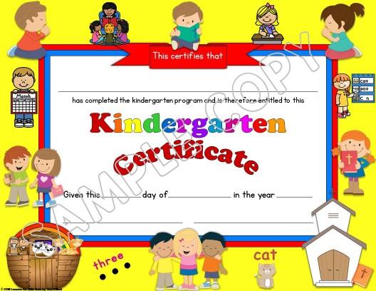 Kindergarten Diploma religious
