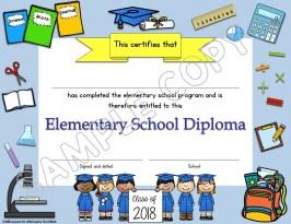 elementary diploma