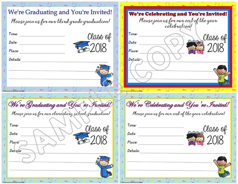 graduation invitations announcements editable