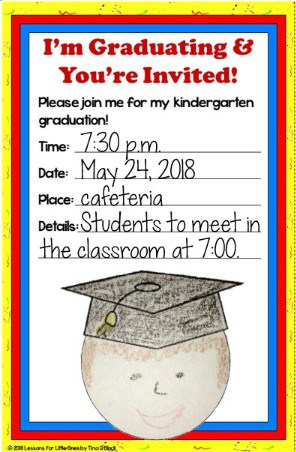 kindergarten graduation invitation personalized