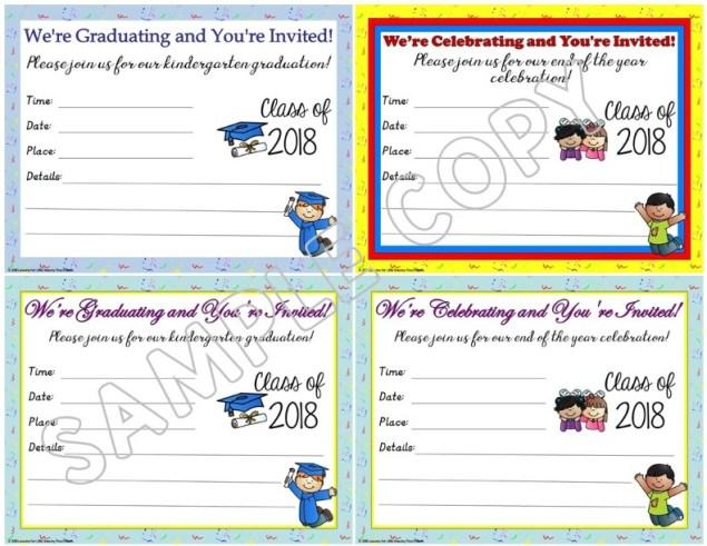 kindergarten graduation invitations editable