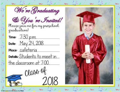 preschool graduation announcement