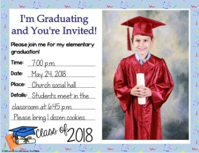 religious graduation invitations student photo