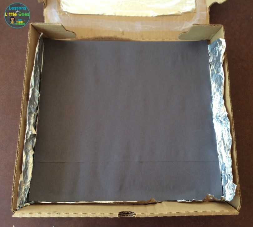 making a solar oven experiment
