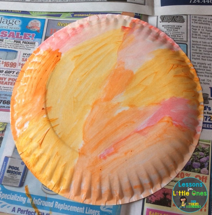 making a paper plate sundial