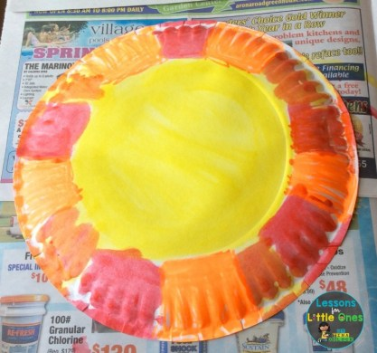 painting paper plate sundial