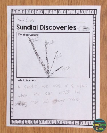 sundial experiment page