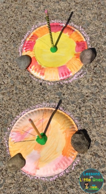 paper plate sundial sun science experiment
