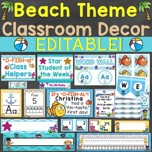 beach theme classroom decor