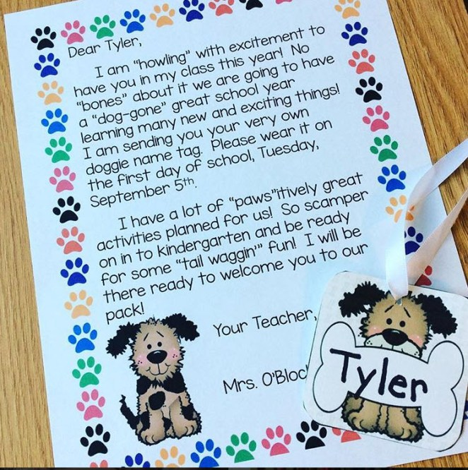dog theme welcome letter