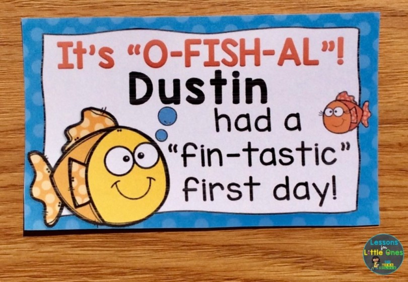 first day of school award beach theme