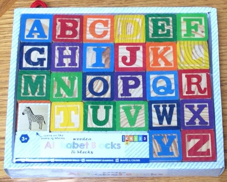 alphabet blocks Target Dollar Spot