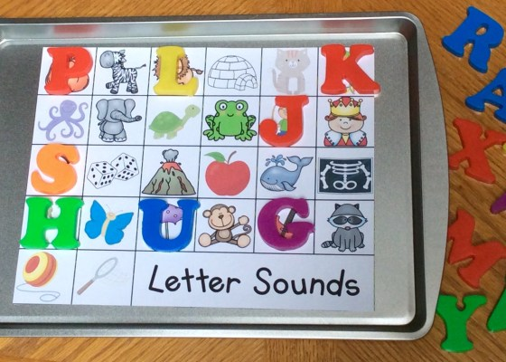 alphabet magnetic letters beginning sounds, letter sounds practice and assessment