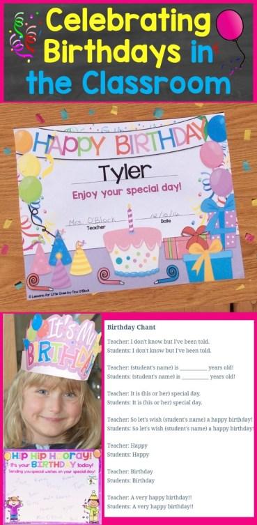 celebrating birthdays in the classroom (student birthday ideas)