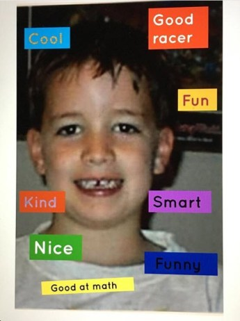 student birthday compliment collage